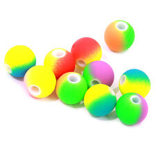 100pcs Assorted Multicolor ABS Plastic Round Loose Spacer Beads Findings 10mm BS