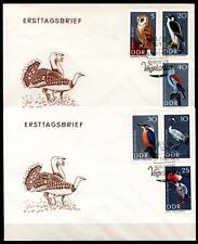 Eulen u.a. Geschützte Vögel. 2FDC. DDR 1967
