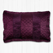 Luxury Pillowshams Viscoe Velvet Plum / Purple Pillow Shams Matt Satin *REDUCED*