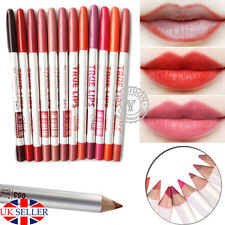 UK 12 Colours Pro Waterproof Lipliner Makeup Professional Lip Liner Pen Pencil