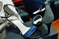♡♡♡ New MIMCO VIGILANTE HEELS SHOES in Prussian Blue RRP$229.00 size 39 OR 8