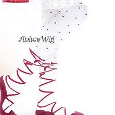 Lolita Fashion Punkt Muster Strümpfe Stockings Overknees Leggings Socken Rot