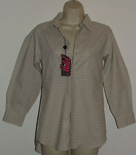 Motel ~ Girls ~ Womens ~ Beige Check ~ Petite ~ Long Sleeve Shirt ~ Size 6 ~ NWT