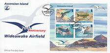 Ascension Island 2012 FDC 70th Anniv Wideawake Airfield 4v Sheet Cover Birds DC3