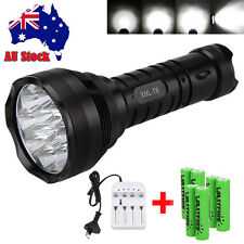 Rechargeable 35000 Lm 12x XML T6 LED Flashlight Torch Light 6x 18650+AU Charger
