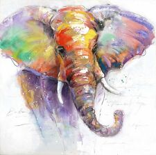 Canvas Prints Modern Home Decor Animal Wall Art Picture Purple Elephant UNFRAMED