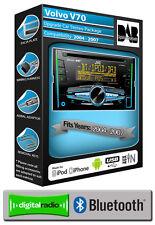 Volvo V70 DAB radio, JVC car stereo CD USB AUX player, Bluetooth handsfree