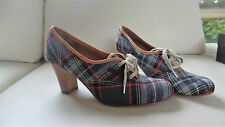 Vivienne Westwood for Nine West plaid oxford heels pumps AU 8.5 9 EU 38 UK 6
