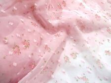 Pink with Pink Flowers Chiffon Dress Fabric #10PK92B 150 cm wide