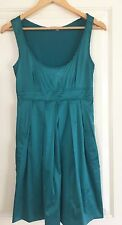 COOPER ST WOMENS DRESS SATIN ELASTANE BLEND WORK PARTY TURQUOISE SZ 10