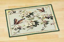schöner kleiner Teppich, Bodenmatte, Blumen u. Schmetterlinge, 48x71cm. neu