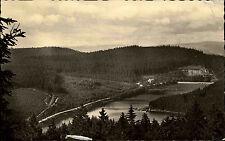 Frankenhain Thüringen DDR s/w AK 1958 Panorama Blick auf die Lütsche Talsperre
