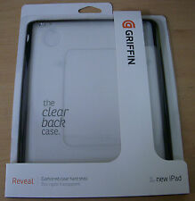 GRIFFIN REVEAL CLEAR HARD CASE SHELL COVER FOR iPAD 3 iPad 2 GB02353 Genuine NEW