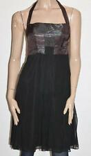George Designer Black Chiffon Metallic Cami Dress Size XS BNWT #sL47