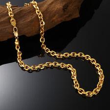 Luxus 18K Goldkette Herrenkette Halsketten 7mm echt 750er Gold vergoldet 60cm