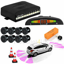 LCD Display Car Reverse Parking Sensor Front & Rear 8 Sendors Buzzer Alarm Kit