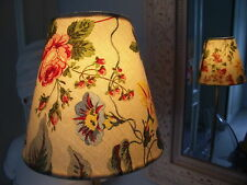 Handmade Candle Lampshade Laura Ashley vintage Melrose floral fabric