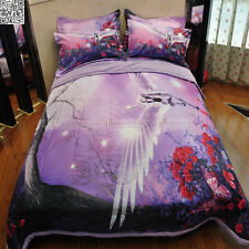 New Purple Queen Size Quilt/Doona/Comforter Set Pillowcases Unicorn AB053