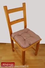 Sitzkissen 38 x 38 cm in braun Stuhlkissen Kissen Softkissen Universalkissen neu