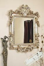 Large Wall Mirror Vintage Style Silver 3ft6 x 2ft6 107cm x 76cm Rectangle