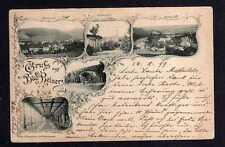 110836 AK Bad Reinerz Schlesien 1899 West Süd Ulriken Quelle Wandelbahn Musik Pa