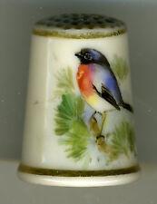 Antique Worcester Porcelain Thimble, Chaffinch