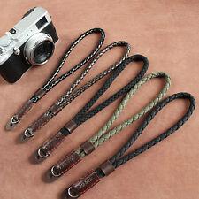 Black Digital Mirrorless Camera Strap Soft Cotton Linen Weaved Strap Wrist Hand
