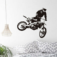 Motorcycle Racer Vinyl Wall Sticker Motocross Driver Decal For Home Living Room