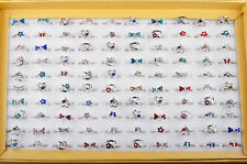 50pcs Wholesale Mixed Color Gift Kids/Childrens Crystal Rings Fashion Jewellery