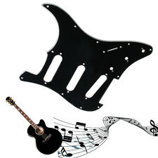 3 Ply Electric Guitar Pickguard Scratch Plate Black For Strat Stratocaster