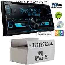 VW Golf 5 V - Kenwood  2DIN USB CD MP3 Autoradio Einbauset Auto PKW KFZ Radio