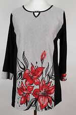 NEW WOMEN  TUNIC BLOUSE size  14/16  TOP  LONG SLEEVE  LADIES  AUTUMN   4251