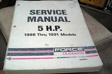 1988 1989 1990 1991 FORCE OUTBOARDS Factory Manual - 5hp