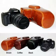 Leather Hard camera case bag Grip for Canon EOS Rebel T6s T6i 760D 750D X8i