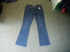 """Dorothy Perkins Bootcut Jeans Size 10R Leg 30"""" Faded Dark Blue Ladies Jeans"""