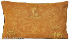 Mustard Cushion Cover Animal Printed Throw Pillow Case Andrew Martin Fabric