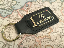 LEXUS KEY RING ATTACHED TO BLACK LEATHER ENAMELLED