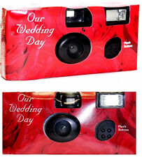 (Lot of 20) Disposable Cameras Wedding Camera One Time Single Use RedRose 2017