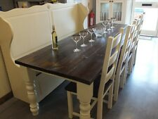 COUNTRY MANOR 8FT X 3FT RECLAIMED PAINTED DINING KITCHEN TABLE HANDMADE