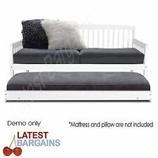Wooden Sofa Bed Frame Trundle Daybed Teenager Kid Full Slat SINGLE Guest NEW