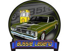 NEW Aussie Legends Ford GTHO Green tin metal sign