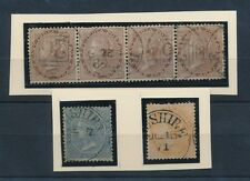 INDIA USED in BUSHIRE QV 1871 SCIND CIRCLE DUPLEX on EAST INDIA STRIP...6 stamps