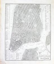 1853 New York Manhattan Stahlstich-Landkarte Stadtplan