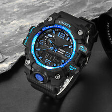 OHSEN Mens Military G Style Chronograph Blue Case Light Shock Quartz Wrist Watch