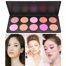 Professional 10 Colors Blusher Makeup Cosmetic Facial Blush Powder Palette Set