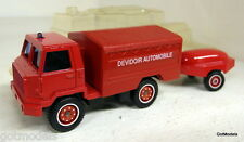 Solido Scale 35 Berliet Camiva 4X4 FF + trailer Fire department Diecast Model