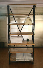 French Industrial Metal Bookcase / Shelving Storage Unit 200cms High BRAND NEW