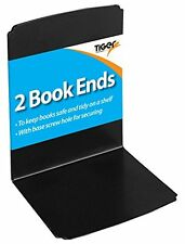 Heavy Duty Metal Book Ends Shelf Bookends Home Office School - 1 Pack of 2