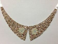 Faux Peter Pan Collar Necklace with Flower Designs for Women Detachable Choker