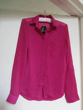 Hot Pink Long Internacionale Shirt / Top in Size 10 NWT but creased